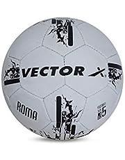 كرة قدم بخياطة يدوية من فيكتور اكس روما، مقاس 5 - ابيض واسود