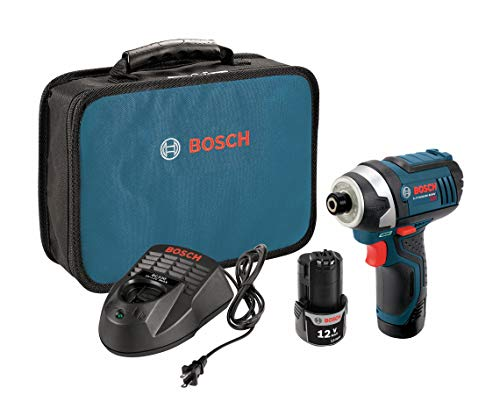 Bosch PS41-2A 12V Max 1 4-Inch Hex Impact Driver Kit with 2 Batteries, Charger and Case