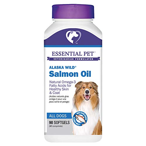 Animal Essentials Fish Oil - Essential Pet Products Alaska Wild Salmon Oil Soft Gels 1000mg with Natural Omega-3 Fatty Acids for Dogs