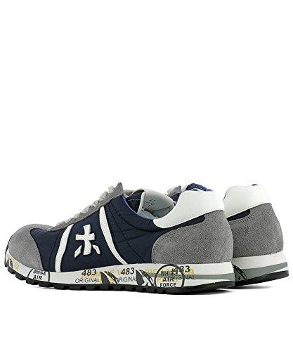 Uomo Camoscio Grigio Sneakers PREMIATA Lucy600e Blu 6qYxUn5w