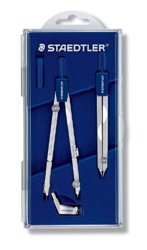 Staedtler Mars Basic 554 T11 554 Precision Compass With Dividers In Case With Hinged Lid Silver by Staedtler (Image #1)