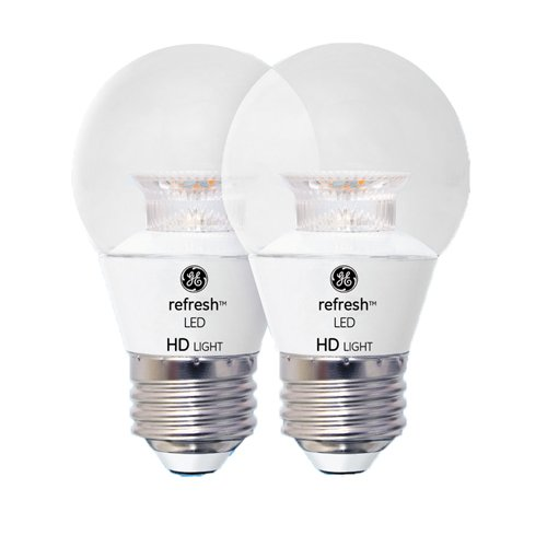GE Lighting 92199 LED Refresh HD 4-watt (40-watt Replacement), 300-Lumen A15 Light Bulb with Medium Base, Daylight, 2-Pack