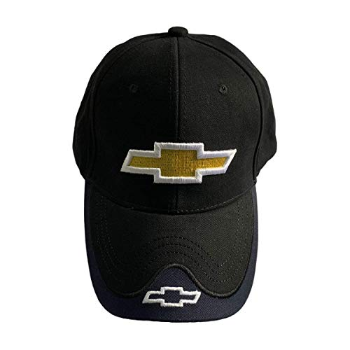 AutoXo Car Logo Black Baseball Cap Auto F1 Racing Hat Adjustable Size for Chev.rolet Accessory (for Chevrolet)
