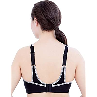 Glamorise Women's Full Figure No Bounce Plus Size Camisole Wirefree Back Close Sports Bra #1066 at Women's Clothing store: Sports Bras