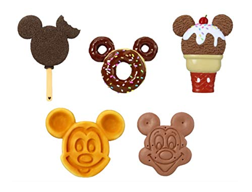 (Disney Food Magnets- Mickey Waffle, Ice Cream Bar, Cone, Sandwich and Donut for Fridge (5 Pieces))