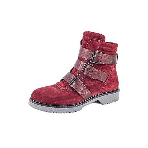 Zapatos marrones con cremallera Weberfashion para mujer i3Xnn