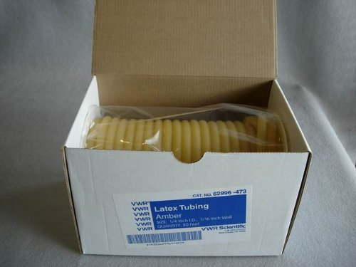 Natural Rubber Latex Tubing 50 ft. - 1/4'' x 3/8'' x 1/16 wall (50 feet) by TFS (Image #1)