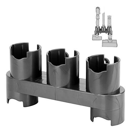 (Colorfullife Docks Station Accessory Holders Storage Equipment Shelf Compatible Dyson V7, V8, V10 Absolute Brush Tool Nozzle Base Bracket Vacuum Cleaner Parts)
