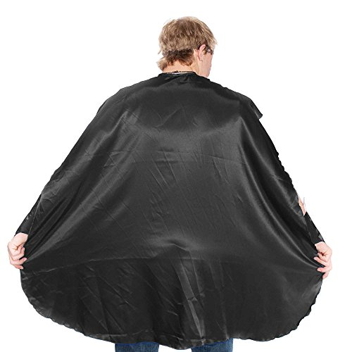 Black Superhero Cape (Everfan Men's Polyester Satin Superhero Cape 38
