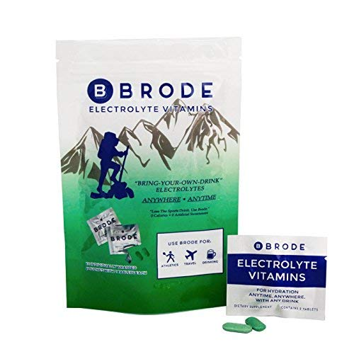 Brode Electrolyte Vitamin - Portable Zero-Sugar Electrolyte Tablets - for Sports, Hangovers, Jet Lag, 5 Essential Electrolytes + 9 Vitamins, 10-Pack