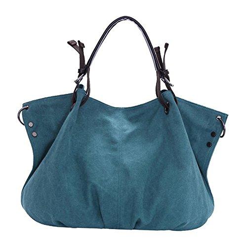 tela-Borse - TOOGOO(R)Spalla Da Donna - tela-Borse della borsa delle signore Crossbody Totes Vintage borsa (Blu)