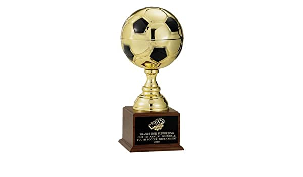 Awards and Gifts R Us Personalizable Dorado balón de fútbol Trophy ...