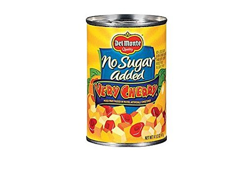 Delmonte No Sugar Added Very Cherry Canned Fruit (Pack of 3) 14.5 oz Cans