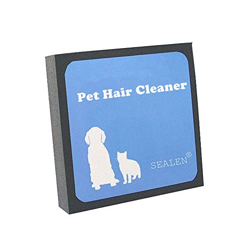 SEALEN Pet Hair Cleaner - Reusable Hair and Fur Remover for Pet Dogs Cats - Magic Pet Foam Pet Brush Hair Erasing for Bedding Carpets Car Seats Clothing