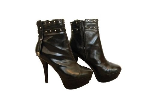 - High Heel Ankle Boots Womens Hot Fashion Black Booties