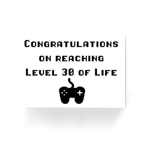 Congratulations On Reaching Level 30 Of Life Gamer Nerd Funny Birthday Greeting Card Amazoncouk Handmade