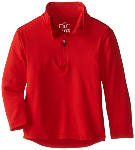 Wes And Willy Big Boys Performance Pullover Quarter Zip Top  Bright Red  L