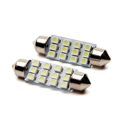 10x 3528 12 Smd Led Auto Car Interior Festoon Dome Bulbs Lamp Light Dc 12v 41mm Automobiles & Motorcycles