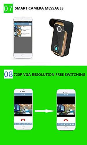 WiFi Wireless Video Intercom Doorbell Wireless Doorbell Mobile Phone APP Remote Control Unlock Remote Monitoring by JIA (Image #6)