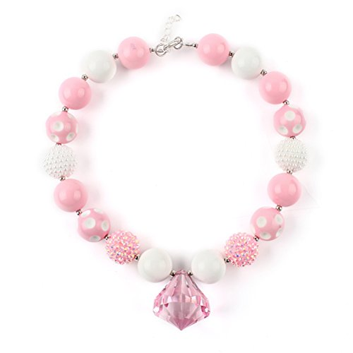 - TOYMYTOY Bubblegum Necklace,Chunky Beaded Necklace Cute Jewelry Accessory For Girls