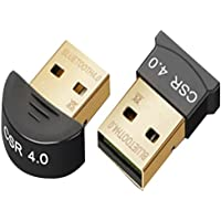 BLUETOOTH USB Adapter CSR 4.0 Dongle Bluetooth Low Energy Receiver Transfer Wireless Adapter for Laptop PC Support Windows 7/8/10/Vista/XP,PDA and Headset(Two shapes, random delivery)