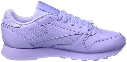 Gymnastique Violet Cl lilac Lthr Glow Femme Reebok Metallic L De Chaussures grit sleek aSwXf