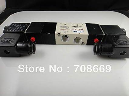1PCS NEW 4V230C-08 DC12V Pneumatic Solenoid Valve Double Head 3 Position 5 Way