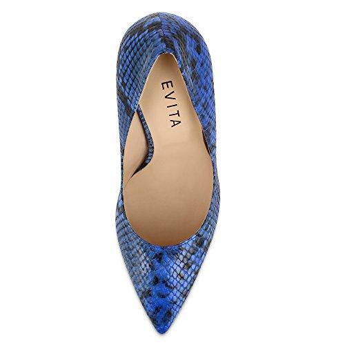 Piel Shoes de Azul para mujer vestir de Evita Zapatos qEdBEX