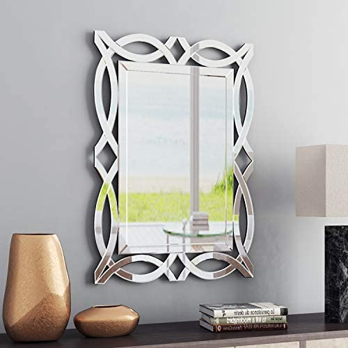 KOHROS Large Antique Wall Mirror Ornate Glass Framed Venetian Decor Mirror Bedroom,Bathroom, Living Room W 28 X H 39 Square