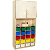 Wood Designs 56203 20 Tray Vertical Storage Cabinet with Assorted Trays