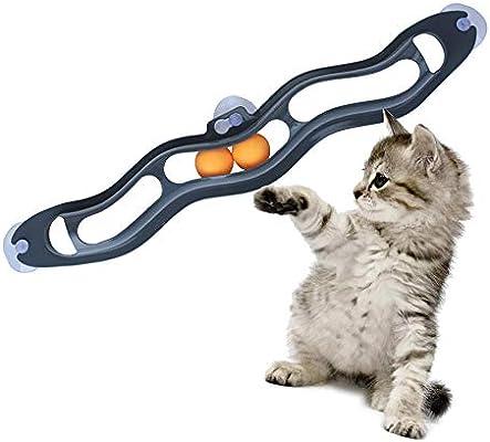 Juguete Para Gatos, Juguetes Para Gatos Para Mascotas Juguete De Bola De Pista De Succionador De Ventana, Interesante Gatito Interactivo Juegos De Tenis De Mesa Para Gatos Cachorro: Amazon.es: Hogar