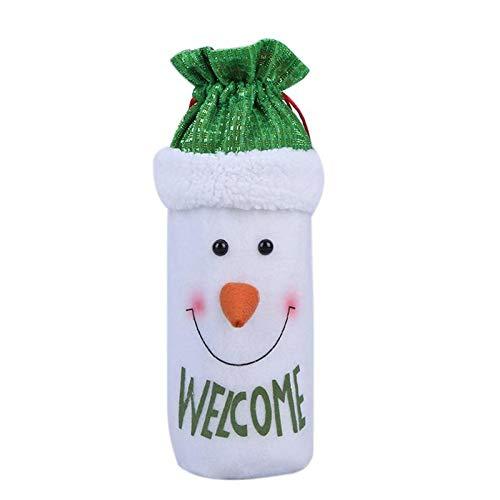 Envio Gratis - Santa Claus Snowman Elk Christmas Decoration Wine Bottle Cover Bags Dinner Table Navidad 2017 Envio - Por Contorno Mochilas Zapatos ...