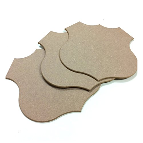 Shield Rt 66 Shape MDF Wood Craft Plaque Sign 10-inch, 3-pack - Shape Of Shield