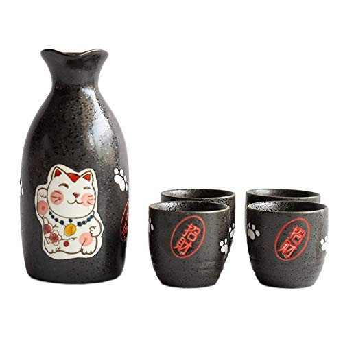 Lindo Lucky Cat Wine 1 Can 4 Set Caja De Regalo - Cerámica ...