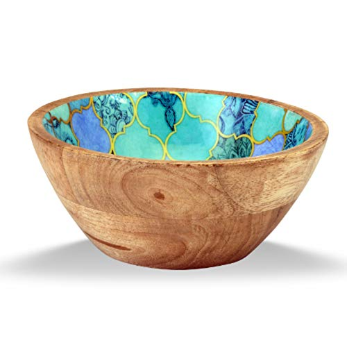 Enamel Mango (MarktSq Enamel Wood Salad Bowl in Gorgeous Shades of Blue)