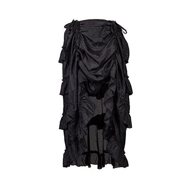 Alex sweet Adjustable Ruffle High Low Gothic Skirt Plus Size Steampunk Corset Skirt Long Dress 3