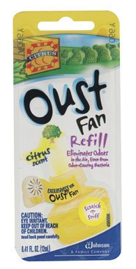 Oust Fan Refill ~Citrus Scent (Oust Air Fresheners)