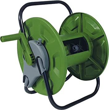 NEW WALL MOUNTED OR FREE STANDING GARDEN HOSE REEL PIPE RUST PROOF