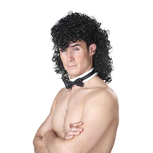 Kenny Powers Costumes (California Costumes Men's Girl's Night Out Wig, Black, One)