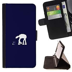 KingStore / Leather Etui en cuir / Sony Xperia Z3 Compact / En En Azul