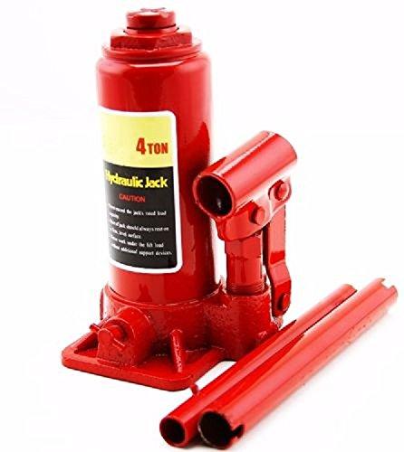 4 Ton Hydraulic Bottle Jack Stand Automotive Shop Equipment Car Truck Heavy Duty ,New from Jikkolumlukka
