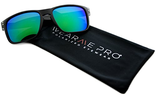 WearMe Pro - Premium Polarized Mirror Lens Classic Wayfarer Style - Sunglasses Pro