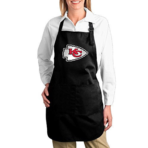 Kansas City Chiefs Apron (Kitchen Server Cotton Apron For Women With Pockets Aprons For Men With Pocket Kansas City Chiefs Twill Cotton Cooking Comfortable Adults Cotton Apron Bibs Lovely Gifts)
