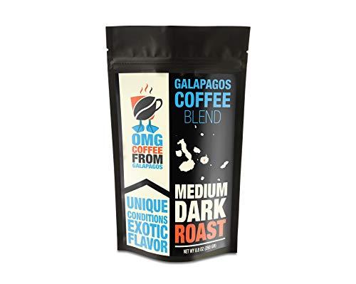 OMG Galapagos Island Blend Coffee Medium Dark Roast Ground, Specialty, Exotic, Gourmet, Roasted in Single Origin, Whole…