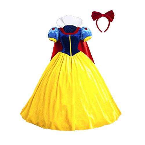 baycon Halloween Classic Deluxe Princess Costume Adult Queen Fairytale Dress Role Cosplay for Adult  - http://coolthings.us