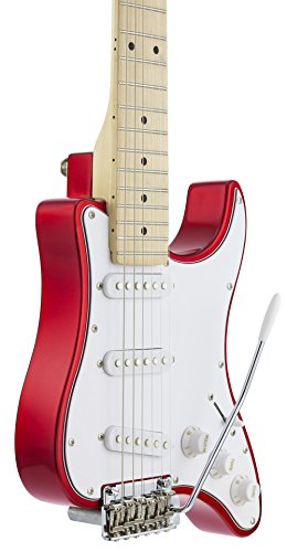 Traveler Guitar 6 String Travelcaster Deluxe (Candy Apple Red) Electric, Right Handed (TCD CARMT)