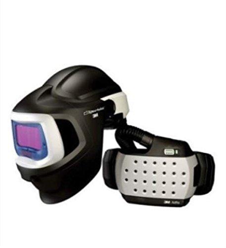 3 M Casco de soldar Adflo con sistema de purificación de aire respirador de alta eficiencia con Speedglas 9100 MP, con tulipas de sombrero duro, ...