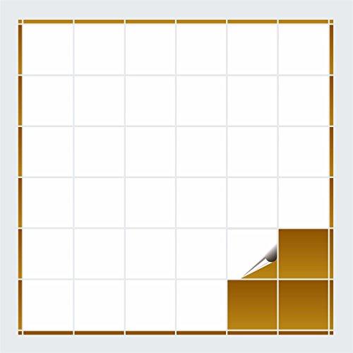 FoLIESEN - Fliesenaufkleber - weiss matt - 10cm x 10cm - 40 Stück