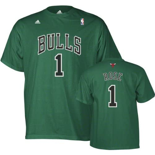 Chicago Bulls Derrick Rose St. Patricks Day Green T Shirt