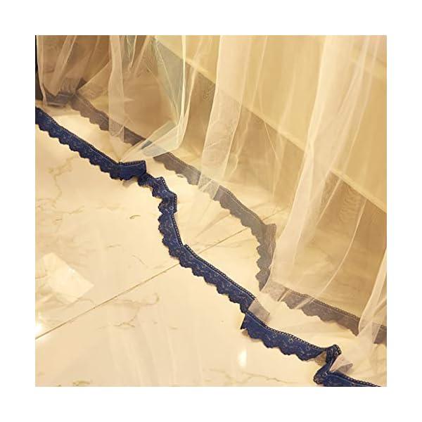 Princess 3 Side Aperture Messaggio letto a baldacchino cortina di zanzariere Net Biancheria da letto, 4 angolo Messaggio… 5 spesavip